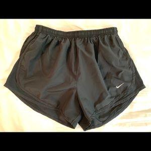 Nike Running Shorts Black with White Logo